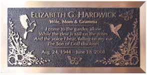 Bronze Grave Marker Plaques