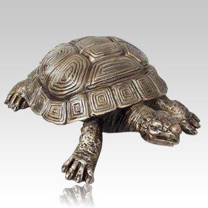 Garden Turtle Bronze Urn