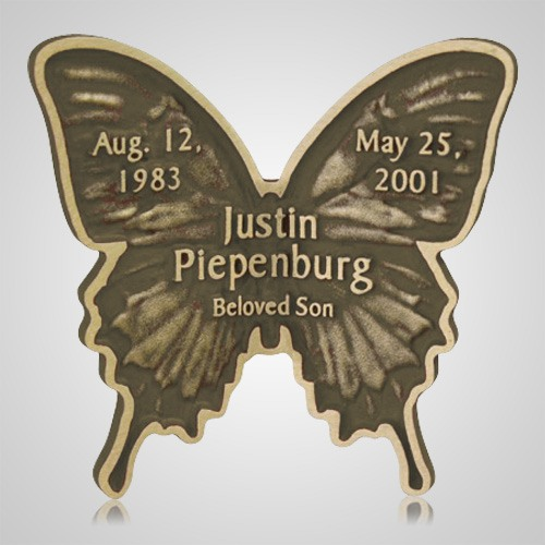 Brown Butterfly Grave Bronze