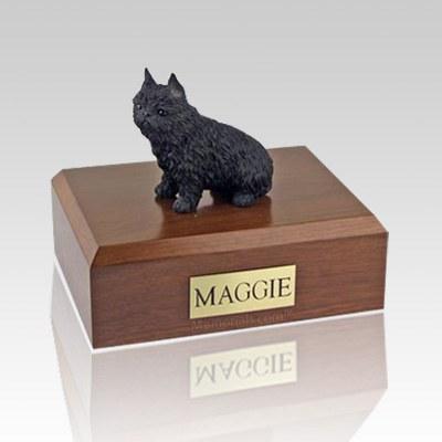Brussels Griffon Black Dog Urns