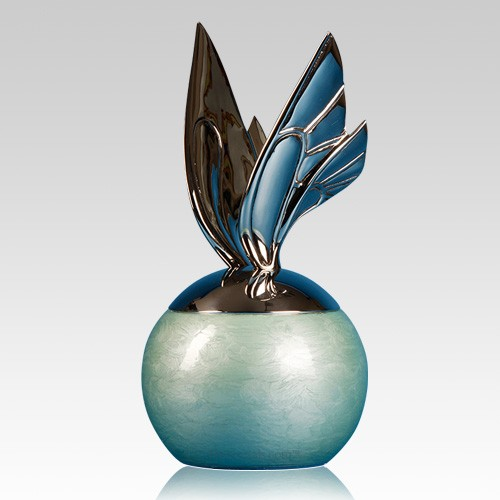 Blue Butterfly Cremation Urns