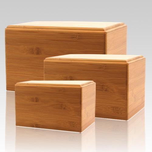 Bamboo Pet Eternity Wood Urns
