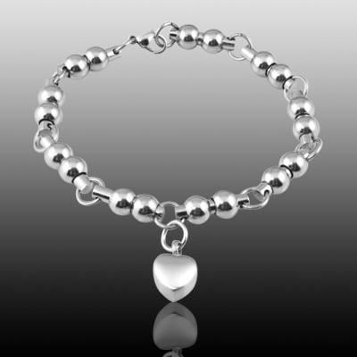Pet Heart Cremation Bracelet