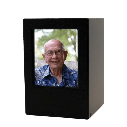 Black Eternity Medium Photo Wood Urn