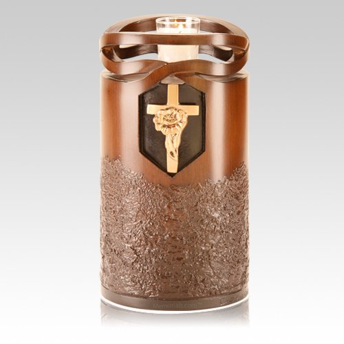 Infinity Rose Cross Cremation Urn