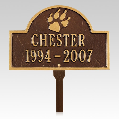 Canine Pet Memorial Plaque