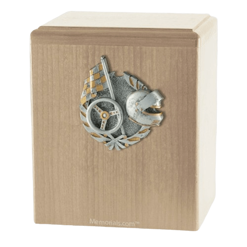 Car Racing Maple Cremation Urn