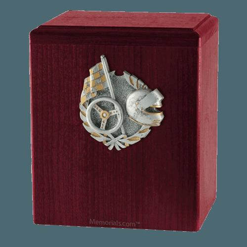 Car Racing Rosewood Cremation Urn