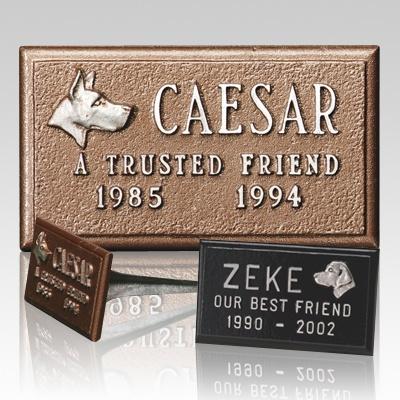 Cast Aluminum Pet Headstone