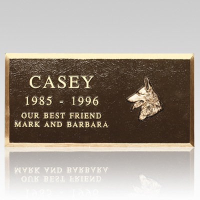 Cast Bronze Pet Headstones