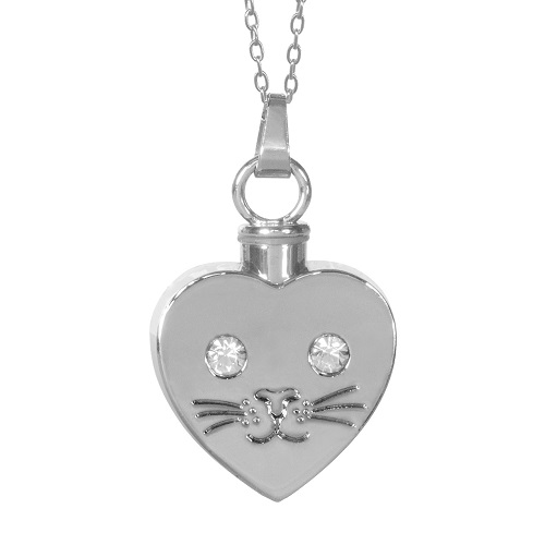 Cat Heart Cremation Jewelry