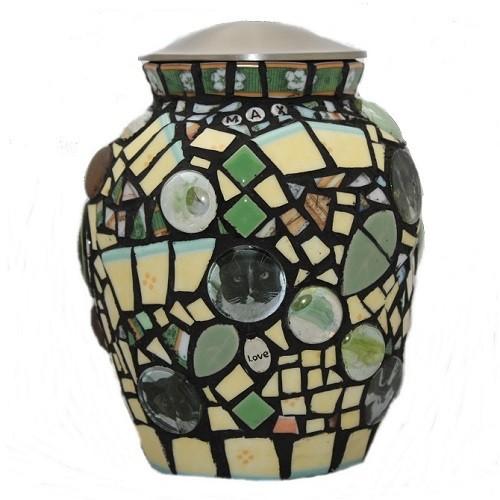 Cat Mosaic Cremation Urn