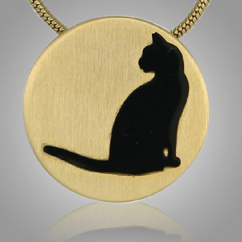 Cat Signet Bronze Keepsake Pendant