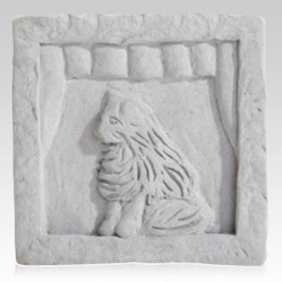 Cat in Window Memorial Stone