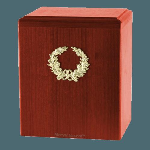 Champion Wreath Cherry Cremation Urn