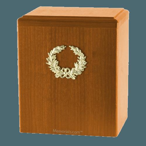 Champion Wreath Oak Cremation Urn