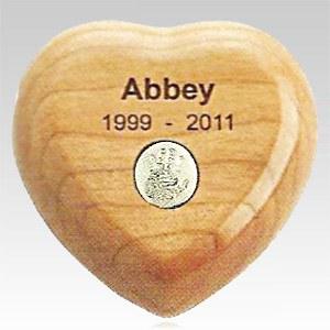 Cherry Heart Pet Print Keepsake Urn