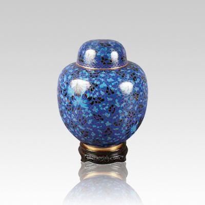 Oriental Blue Small Cloisonne Urn