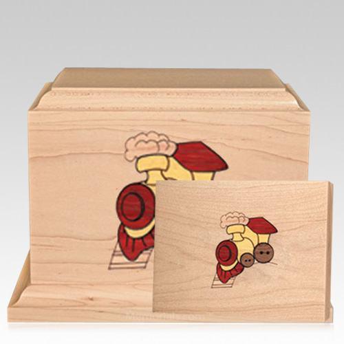 Choo Choo Children Wood Cremation Urns