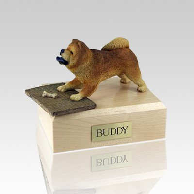 Chow Chow Red Playing Dog Urns