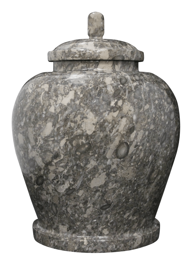 Classic Taupe Marble Cremation Urns