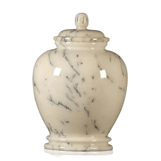 White Classico Marble Cremation Urn