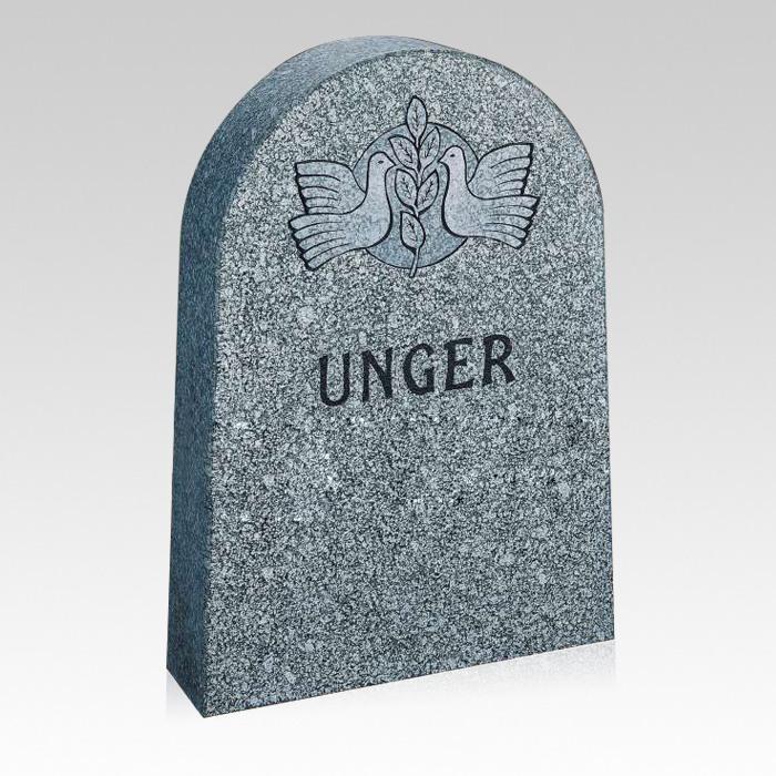 Classic Upright Cemetery Headstone