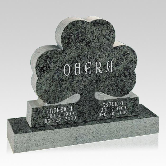 Clover Leave Companion Granite Headstone