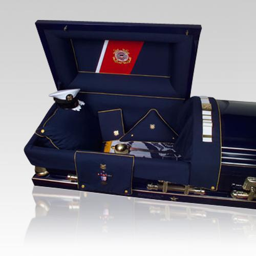 Coast Guard Military Burial Casket
