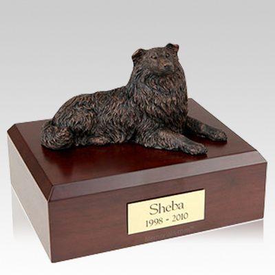 Collie Bronze Dog Urns