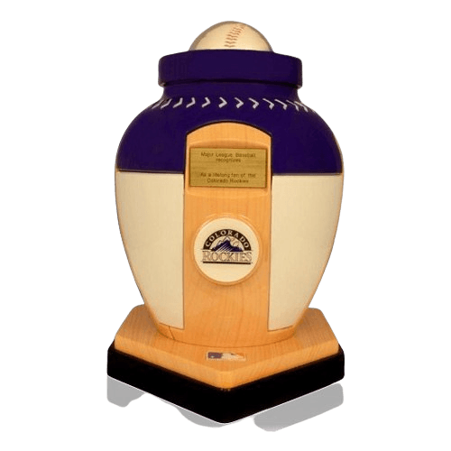 Colorado Rockies Baseball Cremation Urn