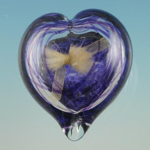 Colorburst Heart Glass Keepsake