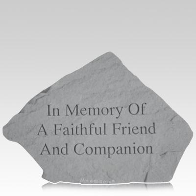 Companion Pet Memorial Stone