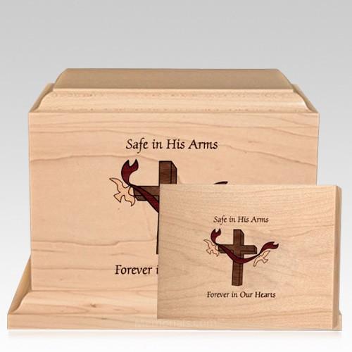 Cross Children Wood Cremation Urns