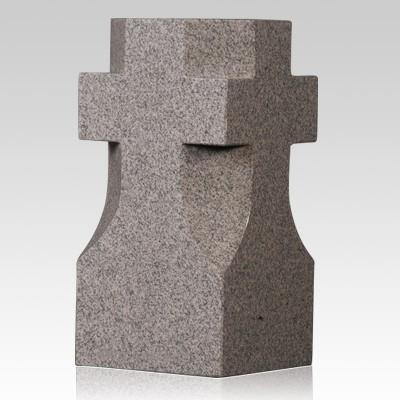Bahama Blue Cross Granite Vase
