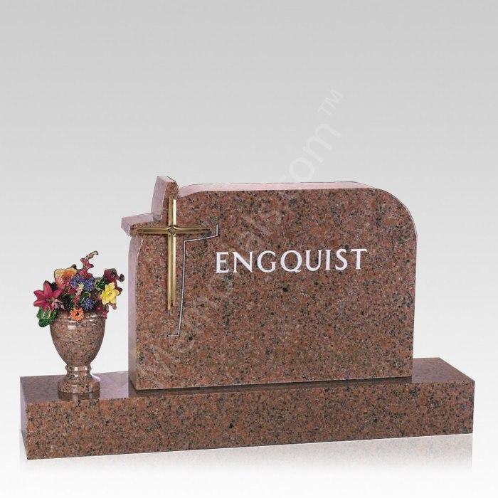 Cross to Heaven Cemetery Companion Headstone