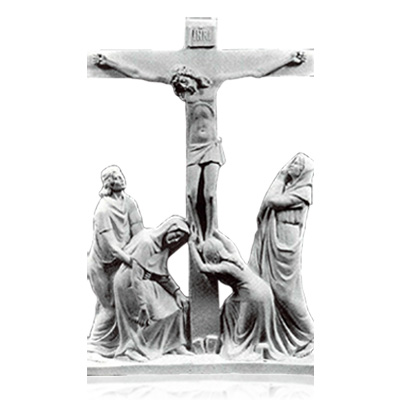 Crucifixion Marble Relief