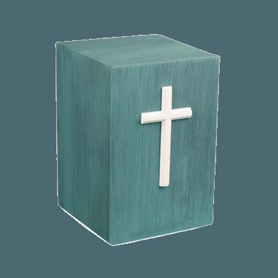 Cruz Patina Bronze Urn