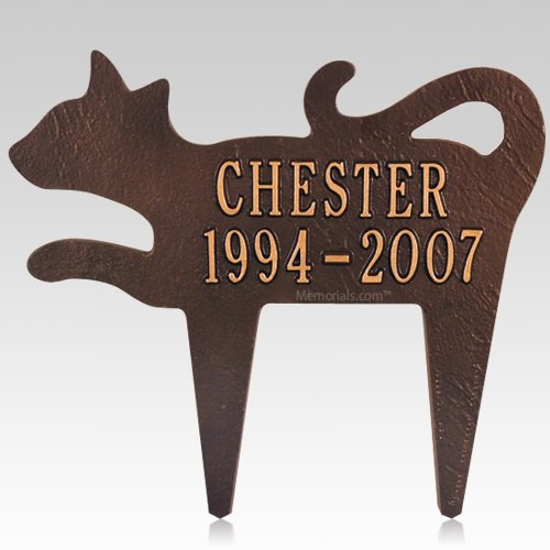 Curious Cat Pet Memorial Plaque
