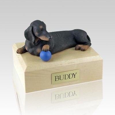 Dachshund Black Playing Dog Urns