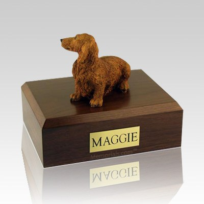 Dachshund Long-Haired Brown Dog Urns
