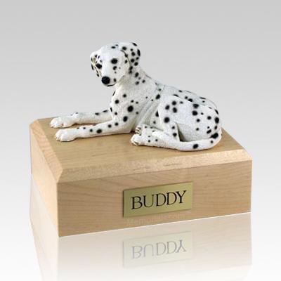Dalmatian Laying Dog Urns