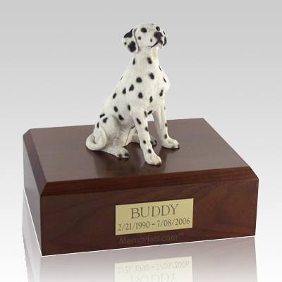 Dalmatian Seated Dog Urns