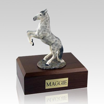 Dapple Gray Rearing X Large Horse Cremation Urn