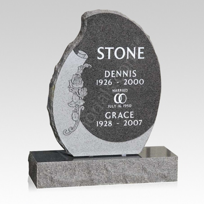 Devotion Upright Cemetery Headstone