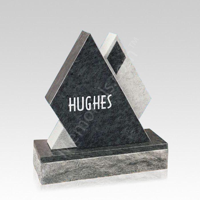 Diamond Companion Granite Headstone