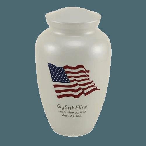 Dignity Flag Cremation Urn