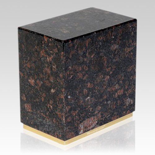 Dignity Tan Brown Granite Cremation Urn