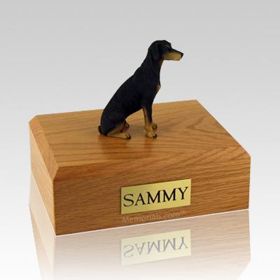 Doberman Black Dog Urns