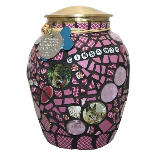 Dog Mosaic Cremation Urn